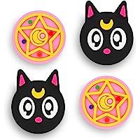 Owngen Cute Thumb Grip Caps for Nintendo Switch / Lite, Kawaii Magic Moon Joy-Stick Button Stick Cover 3D Analog…
