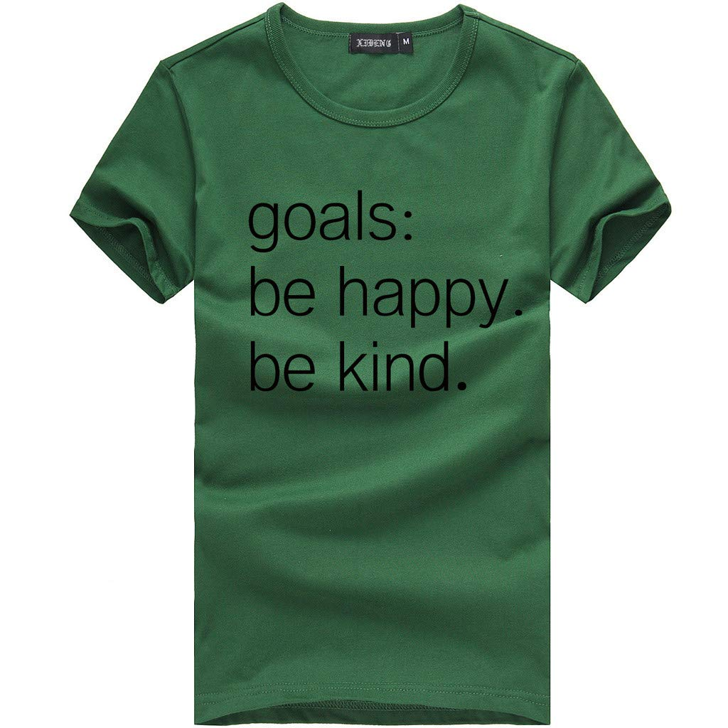 Tunic T Shirts BXzhiri Women O-Neck Short Sleeve Casual Tunic Blouse Pullover Tops Army Green