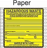 GC Labels-HWL200CAP, Hazardous Waste California Paper Labels HWL200CAP, Package of 500 fan-folded labels