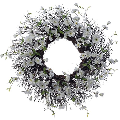 Teters Floral Products Spring Collection 26-inch Apple Blossom Wreath (Seasonal Door)