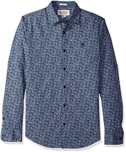 Original Penguin Men's Long Sleeve Floral Printed Shirt