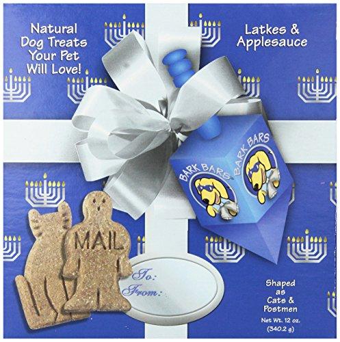 Bark Bars Hanukkah Box With Bow Laktes/Applesauce Pet Treat, 12-Ounce ()