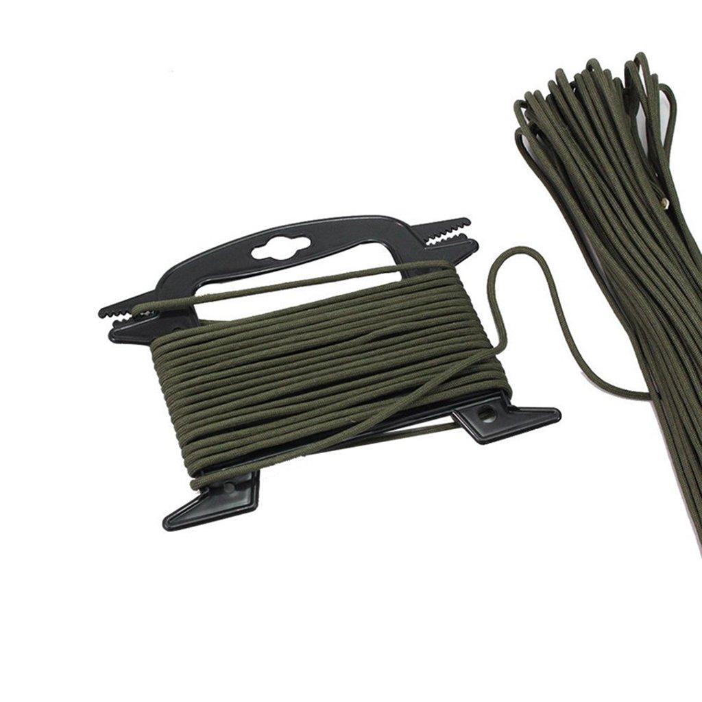 SM SunniMix 2 Pcs//Set Paracord Winder Fishing Line Cable Rope Organizer Tool for Holding Parachute Cords Black