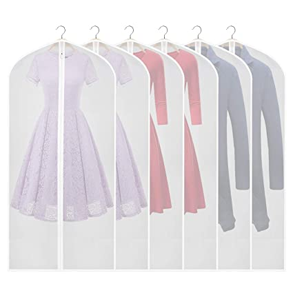 326ec0c7615 Image Unavailable. Image not available for. Color  Zilink Clear Garment Bag  Dress Bags for Storage 54-inch ...