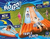 Inflatable Triple Water Slide Outdoor Kids Play Backyard Pool Big Splash Spit