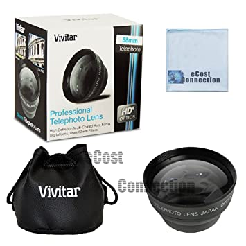 14-42mm 3.5-5.6 Zuiko ED Zoom Lens and Other Models Vivitar Pro series 58mm 2.2x High Definition AF Telephoto Lens 40-150mm 4-5.6 Zuiko ED Zoom Lens Microfiber Cloth For Olympus 70-300mm 4-5.6 Zuiko ED Zoom Lens