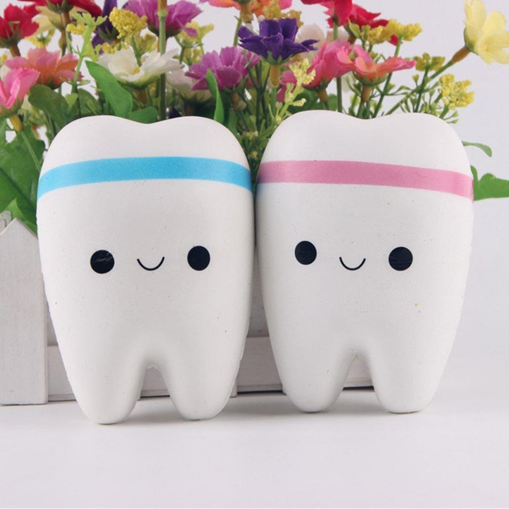 Cartoon Smiley Teeth Slow Rising Squeeze Toy Straps Phone Handbag Charms Pendant Squishy Toy Stress Relief Super Soft Simulation Props Jumbo Collection Sunlight House