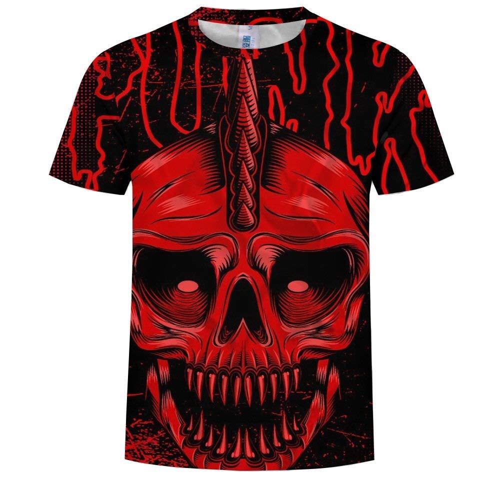 NANWUGAO 3D T-Shirt Short Sleeve T-Shirt Creative Crewneck Graphic Casual Printed Tee Tops Short Sleeve Tees