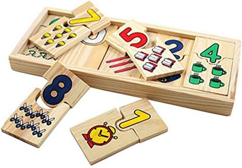 WOQOOK - Juego de mesa para aprender números (madera, con caja): Amazon.es: Oficina y papelería
