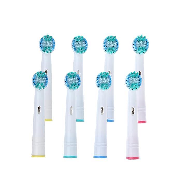 UCA® - Pack de 8 cabezales para cepillos de dientes recargables(Oral B Precision Clean EB17-4),color azul: Amazon.es: Salud y cuidado personal