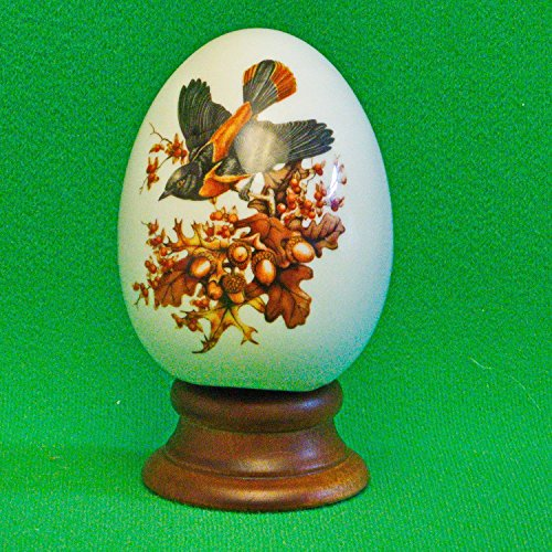 Avon Porcelain Egg - AVON 1984 Four Seasons Porcelain Egg Series - Autumn's Magic Changes - Includes Box, Stand and Original Foam Packaging