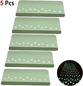 CXJUN - Esterilla para Escalera de Suelo con Pegatinas Luminosas Antideslizantes para escaleras, sin Pegamento, autoadhesiva, de PVC, para decoración del hogar, escaleras: Amazon.es: Hogar