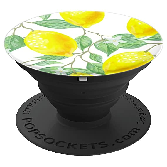 detailed look ab9b4 927f3 Amazon.com: Lemon Pattern - PopSockets Grip and Stand for Phones and ...