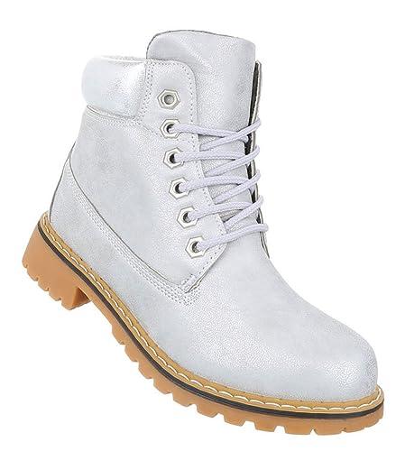 Schuhcity24 Übergangs Damen Stiefeletten   Worker Boots Schnürung ... e898dbaf99