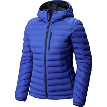 f738457f7b3 Mountain Hardwear StretchDown Hooded Down Jacket - Women s Blue Print