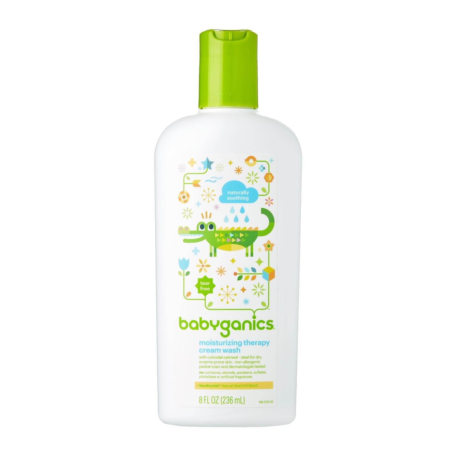 Babyganics Moistsurizing Therapy Cream Wash, 8oz Bottle (Pack of 2) by Babyganics