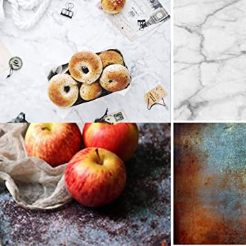 Jewelry Waterproof Seamless Paper Board Photography Studio Props DP-70 2 in 1 Double Sided Cracked Cement Wall Photo Backdrop for Food 83x55cm KonPon 32.6X21.6
