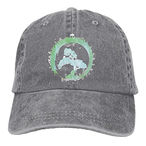 Buyiyang-01 Men's Or Women's Japanese Bonsai Tree Enso Circle Art Denim Jeanet Baseball Hat Adjustable Street Rapper Hat