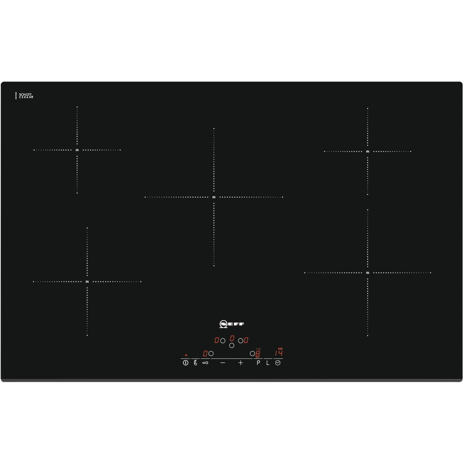 Neff T41D82X2 80cm Wide Touch Control Five Zone Induction Hob