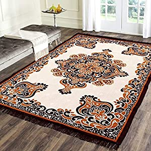 Braids Modern Rug (Multicolor, Polycotton, 4.5 ft x 6 ft)