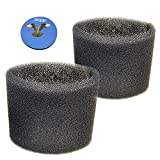 HQRP 2-Pack Foam Sleeve Filter Compatible with Shop-Vac Wet/Dry Vacuums 5-Gallon and Above, Type R 90585 9058500 905-85-00 905-85 Replacement Plus Coaster