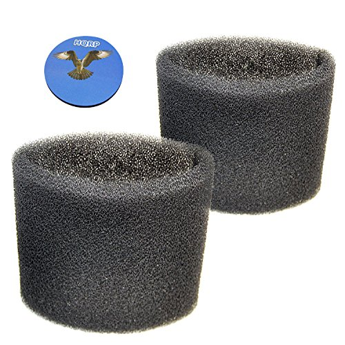 HQRP 2-pack Foam Filter Sleeve for Shop-Vac Wet/Dry Vacuums, 9058500/905-85-00/90585 Replacement Coaster (Black 00 Cartridge)