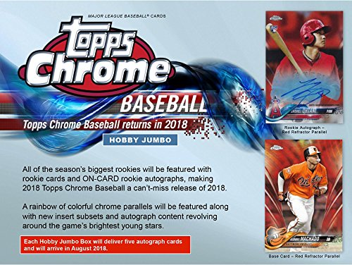 2018 Topps Chrome Baseball HTA Jumbo Hobby Edition Factory Sealed 12 Pack Box - Baseball Complete Sets