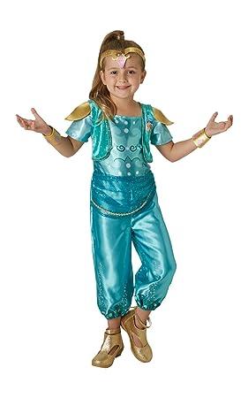 Shimmer & Shine Disfraz Shine Classic Infantil, Multicolor, S (RubieS Spain 630717-