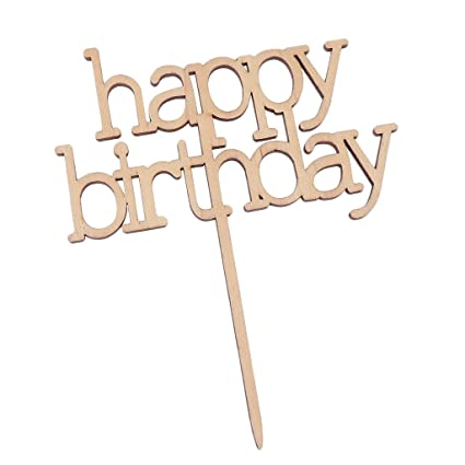 b blesiya rustic wooden happy birthday letters cake topper food picks party cake decor