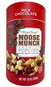 Harry & David Moose Munch Milk Chocolate Premium Popcorn 10oz Holiday Canister