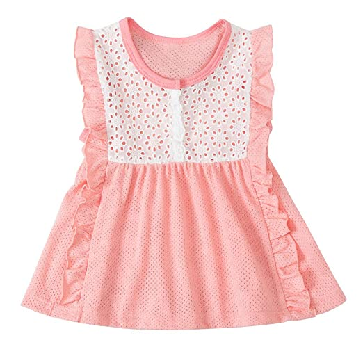 561ad65ac 2019 New! Baby Girls Dress,Kids Toddler Summer Lovely Patchwork Tulle Lace  Party Princess