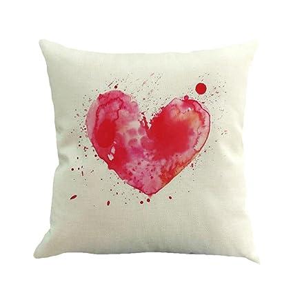 Amazon.com: Corazón impresión funda de almohada Funda de día ...