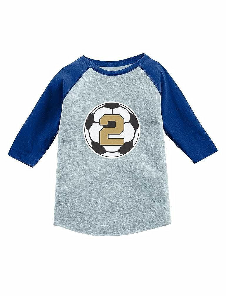 Tstars 2 Year Old Second Birthday Gift Soccer 3//4 Sleeve Baseball Jersey Toddler Shirt