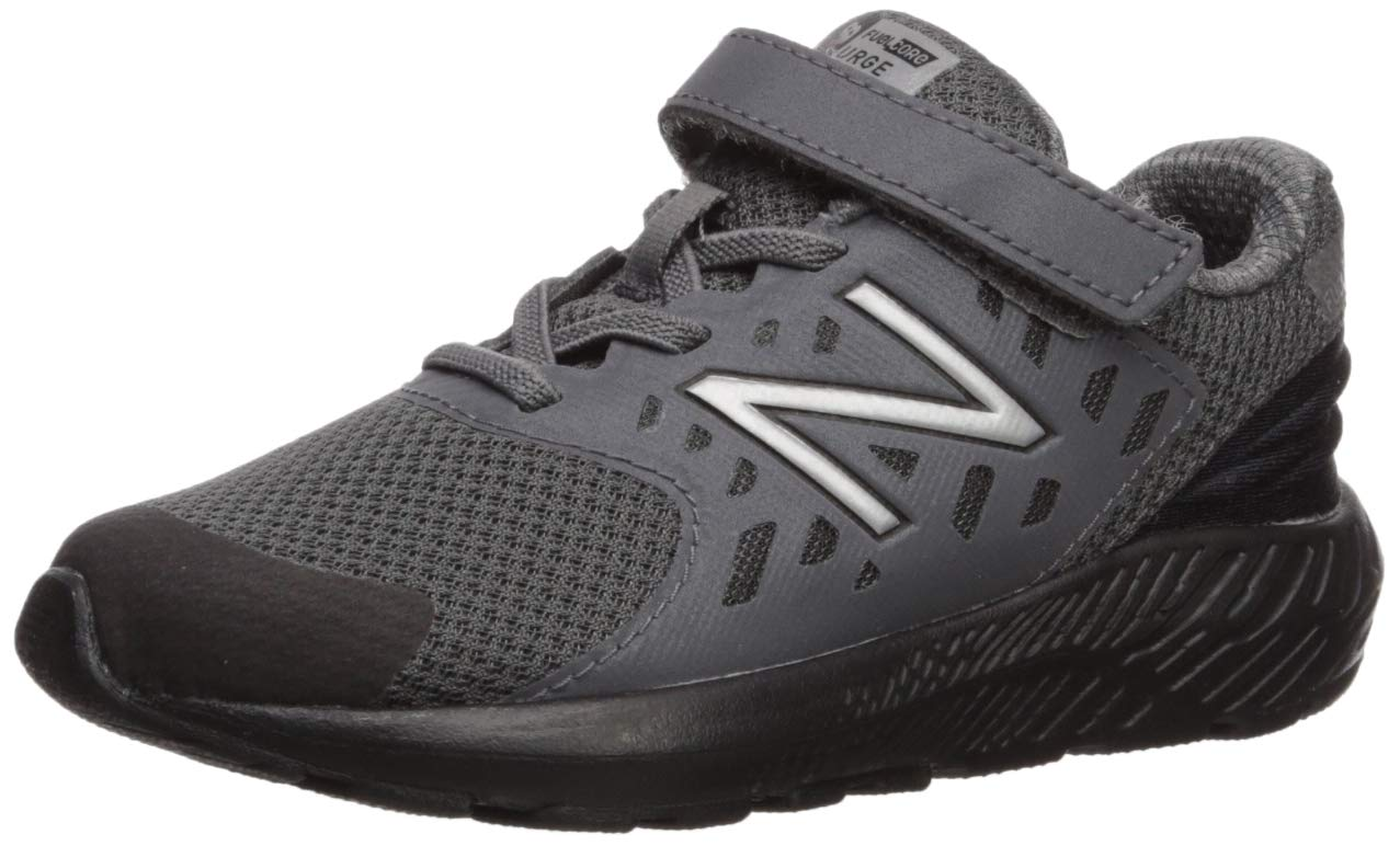 New Balance Boys' Urge V2 FuelCore Running Shoe, Castlerock/Black, 10 XW US Toddler by New Balance