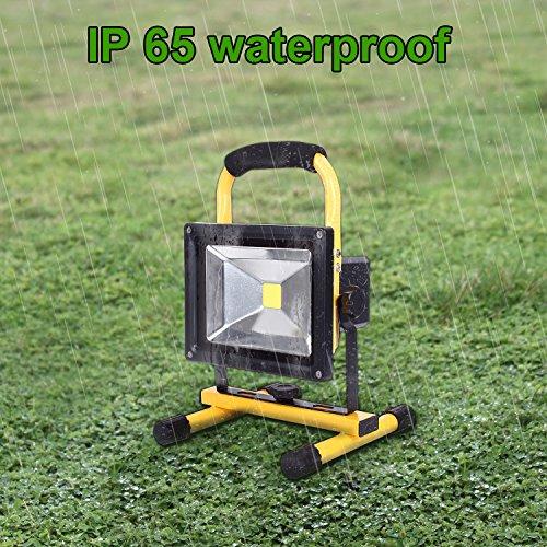 Halogen Work Lamp Flood Light 150w Portable Garage: LTE LED Rechargeable Work Light 20W Portable Outdoor Flood