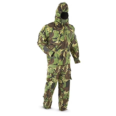 c637172f5f513 Military Outdoor Clothing Never Issued Medium U.K. DPM Camo Military  Chemical Suit