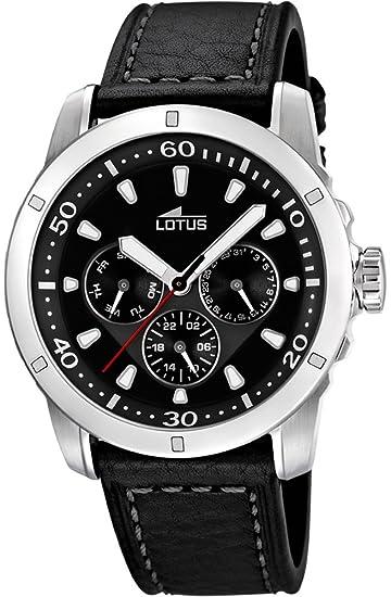 Lotus Reloj Analógico para Hombre de Cuarzo con Correa en Cuero 8430622555251: Amazon.es: Relojes