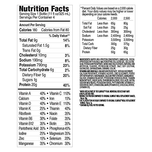 SlimFast-Advanced-Nutrition-Creamy-Chocolate-Shake--Meal-Replacement--20g-of-Protein--11oz--12-Count