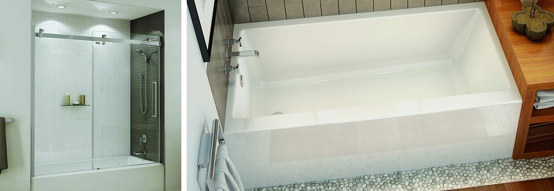 foto de Maax 60 x 32 x 20 Right Drain Regular Alcove Bathtub Rubix 105704 ...