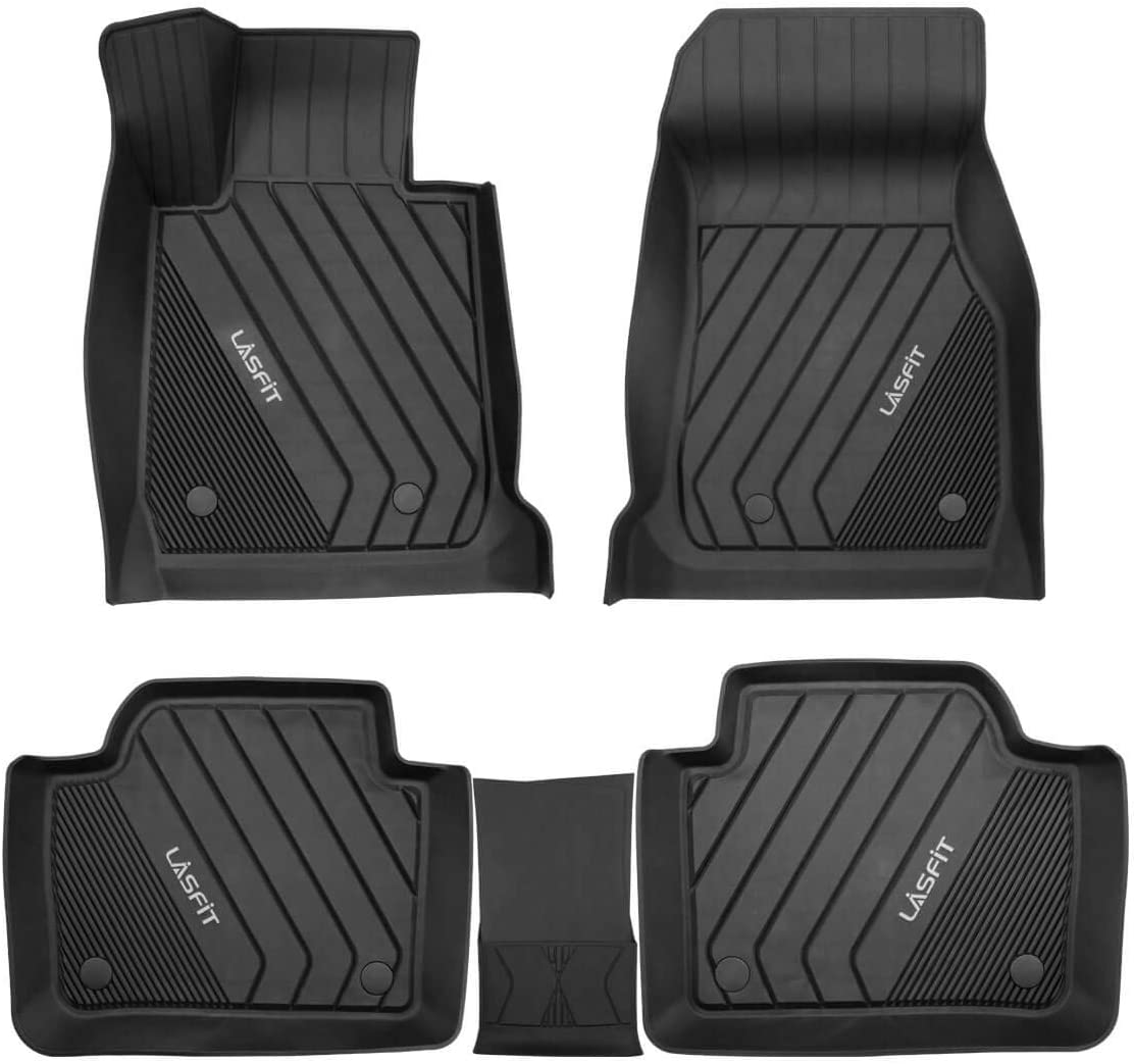 Front /& Rear Rows Heavy Duty All Weather TPE Floor Liners Black LASFIT Custom Floor Mats Fits for 3 Series 2013-2018