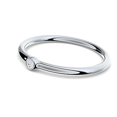 Vorsteckring Verlobungsring Weissgold Ring Diamant 750 Inkl