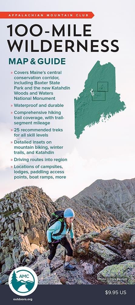 100-Mile Wilderness Map & Guide (Appalachian Mountain Club ...