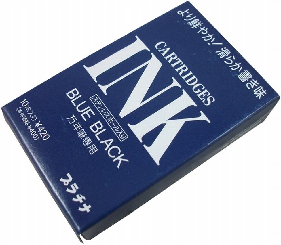 Platinum - Cartuchos de tinta (10 unidades), color azul