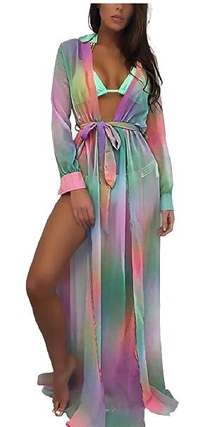 177569b3f0 YONGM Women Wrap Skirt Sarong Kimono Kaftan Bikini Cover up Swimwear Beach  Maxi Dress at Amazon Women's Clothing store: