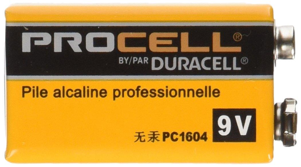 Duracell Procell Alkaline Batteries, 9V, 12/Box