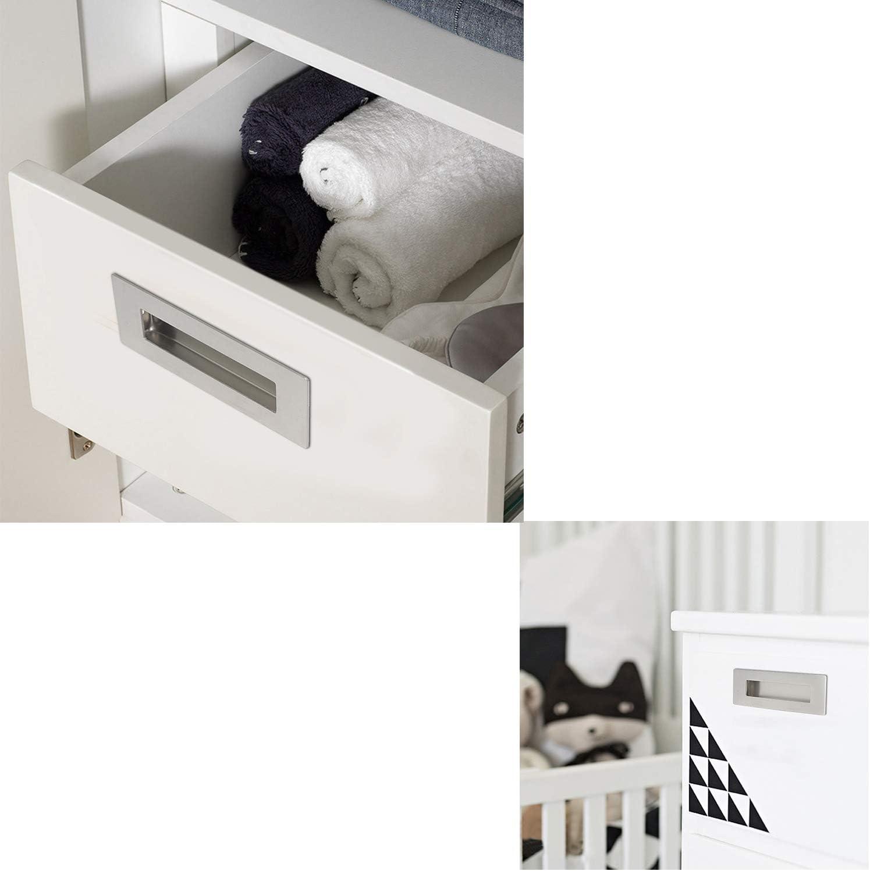 2 Pack Stainless Steel Cabinet & Furniture Door Pulls Flush Drawer Door Handles Recessed Sliding Pulls Rectangular, Handles/Pulls for Interior & Closet Doors: Amazon.es: Bricolaje y herramientas