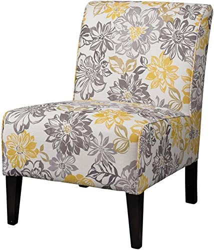 Linon Lily Gray Yellow Polyester Side Chair