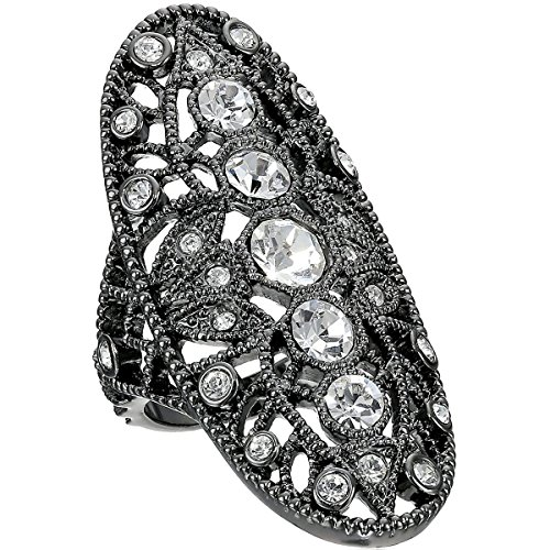 House of Harlow by Nicole Richie Womens Crystal Pave Oval Fashion Ring Gray - Richie Glasses Nicole