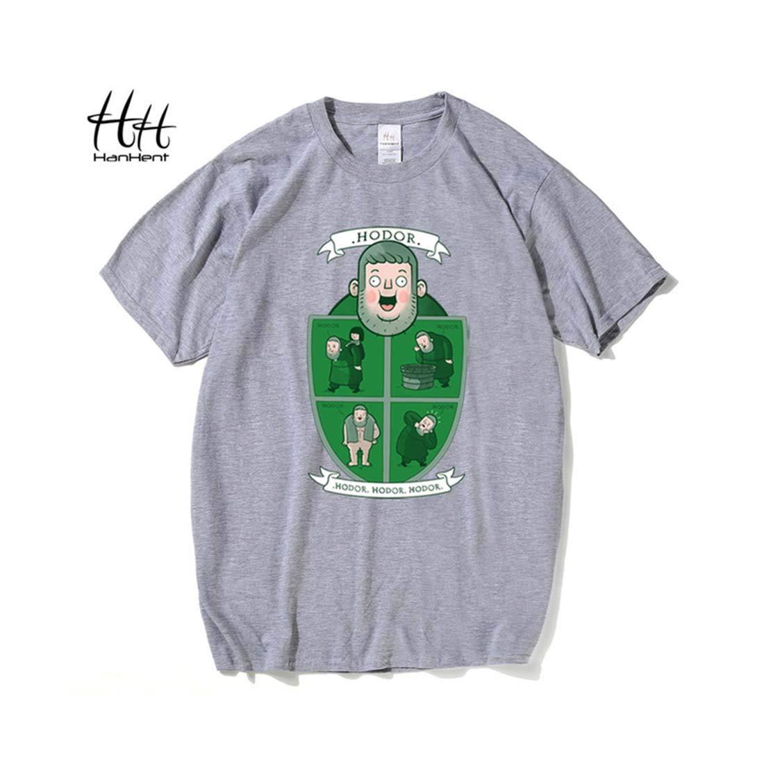 Indikart Export HANHENT HH Cotton Round Neck Grey Men T Shirt