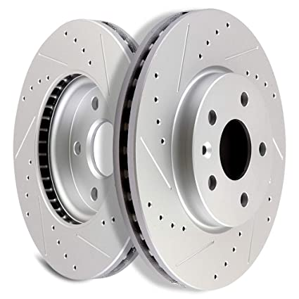 OCPTY Brake Rotors, Prime Choice Front Brake Disc Rotors Fit for 2011 2012 2013 2014